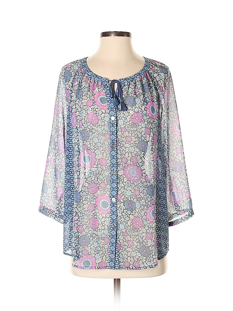 J.jill Women 3/4 Sleeve Blouse Size S