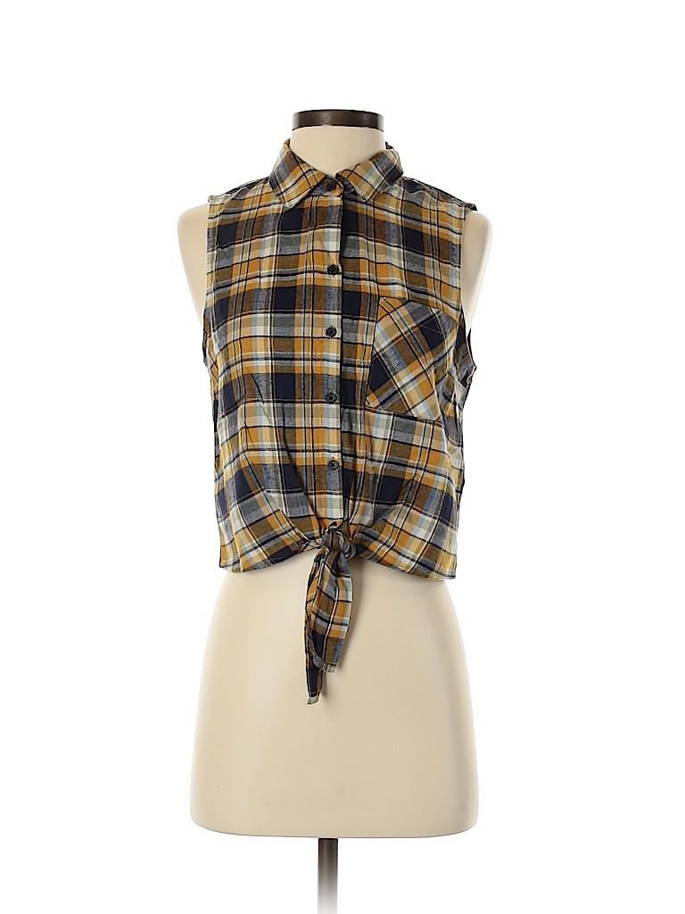 Forever 21 Women Sleeveless Button-Down Shirt Size S