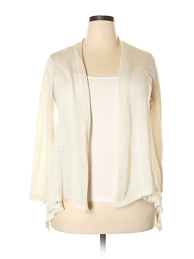 Style&Co Women Cardigan Size 0X (Plus)
