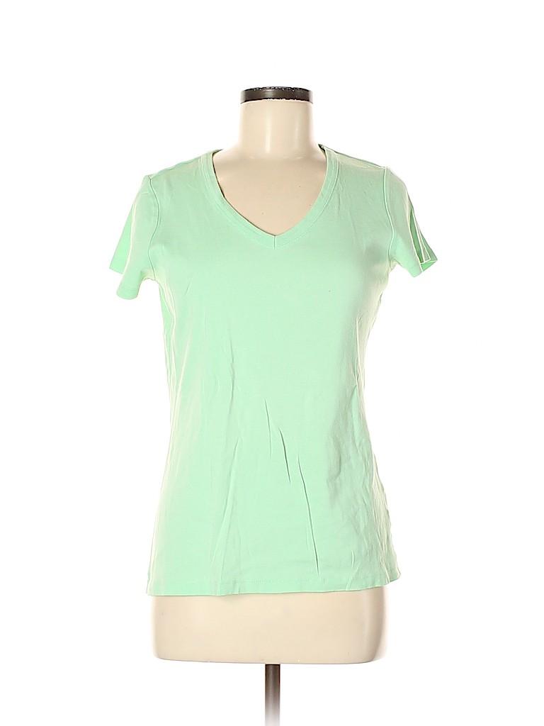 Lands' End Women Short Sleeve T-Shirt Size M