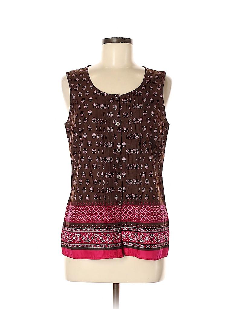 G.H. Bass & Co. Women Sleeveless Blouse Size M