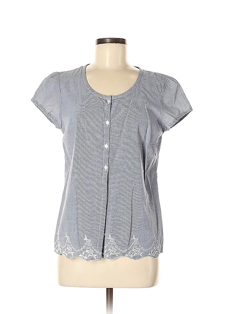 G.H. Bass & Co. Women Short Sleeve Blouse Size M