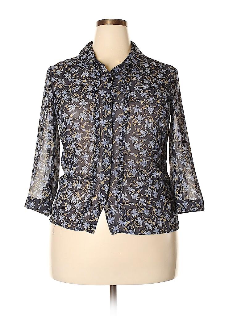 Liz Claiborne Women 3/4 Sleeve Blouse Size 12