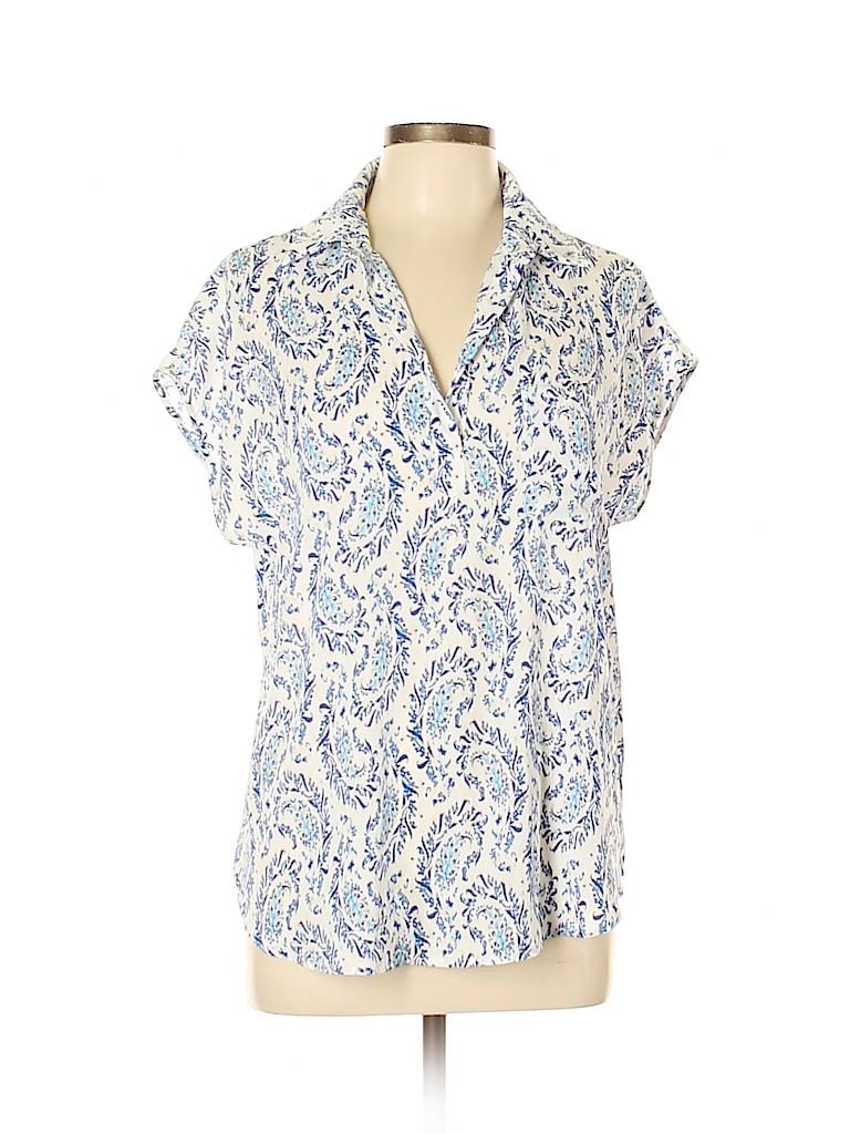 Pleione Women Short Sleeve Blouse Size M