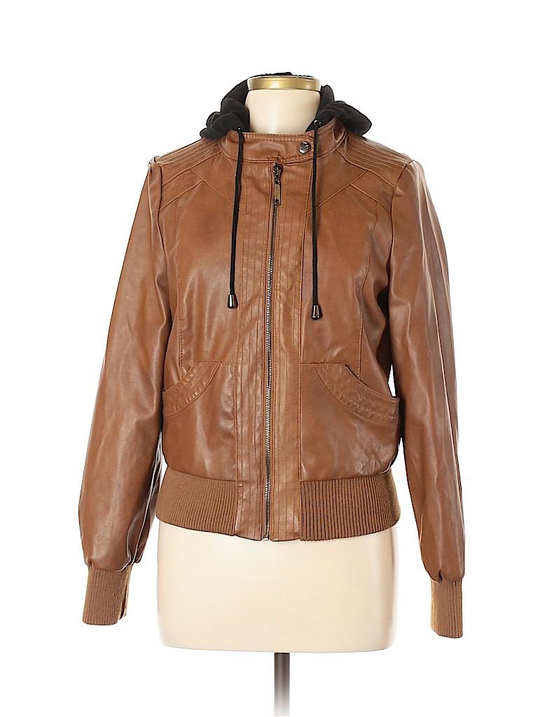 Full Tilt Women Faux Leather Jacket Size XL