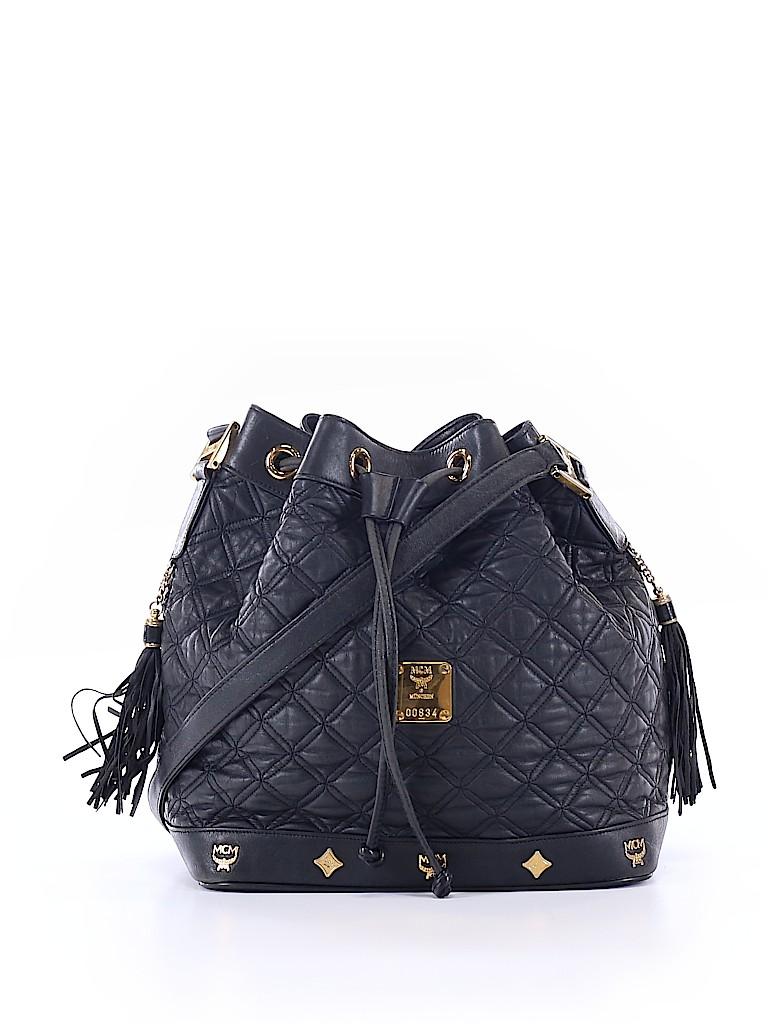 MCM Women Leather Bucket Bag One Size
