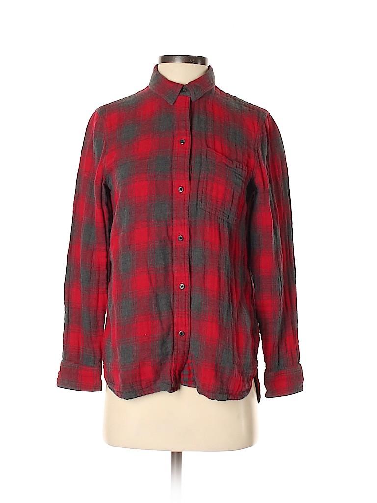 Madewell Women Long Sleeve Button-Down Shirt Size XS
