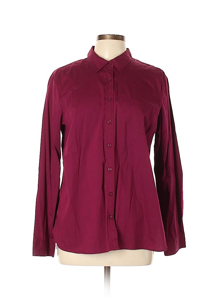Apt. 9 Women Long Sleeve Button-Down Shirt Size XL