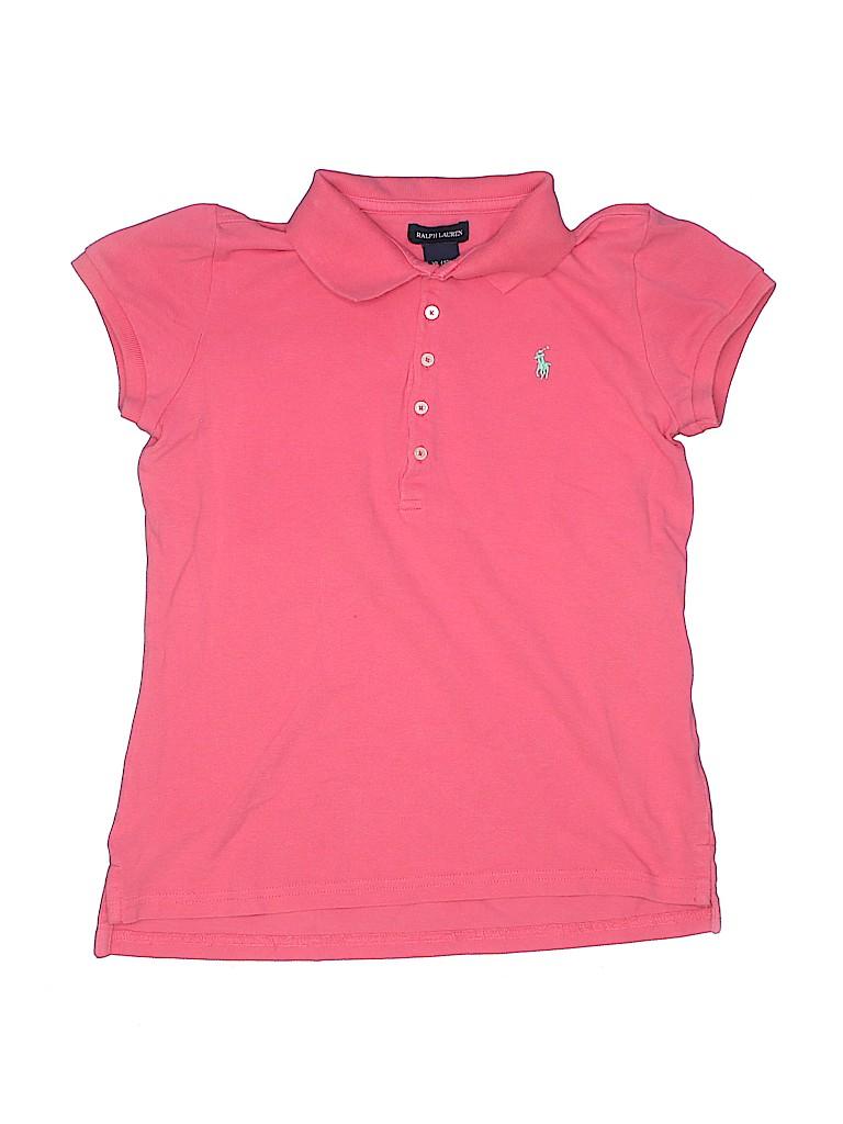 Ralph Lauren Girls Short Sleeve Polo Size 16