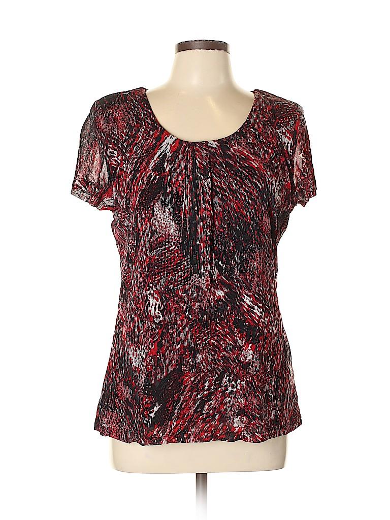Laura Ashley Women Short Sleeve Top Size L