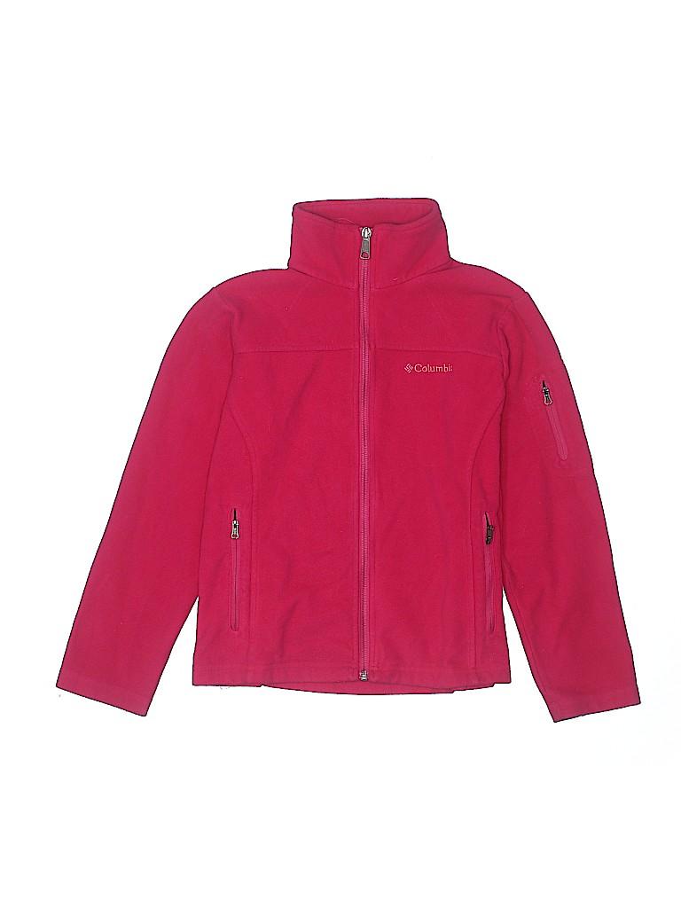 Columbia Girls Fleece Jacket Size 10 - 12