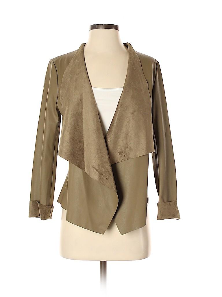 Zara Basic Women Faux Leather Jacket Size S
