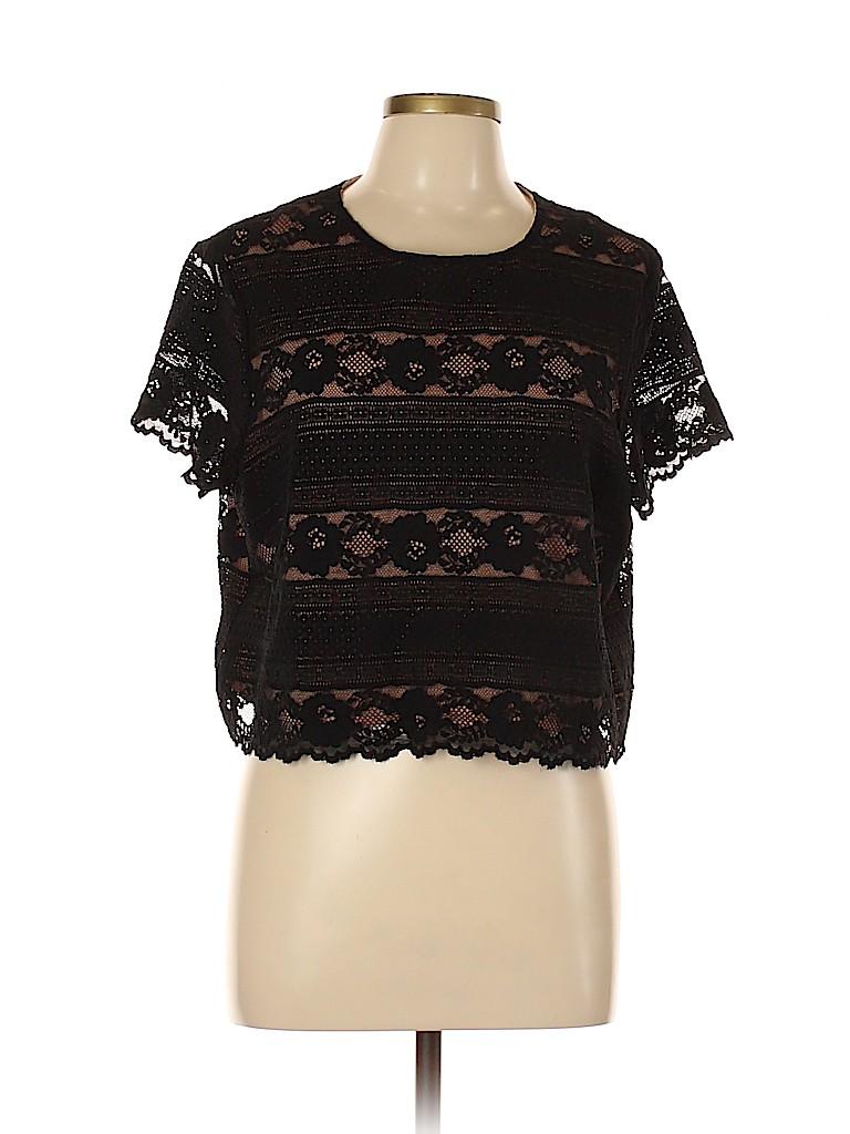 H&M Women Short Sleeve Blouse Size L