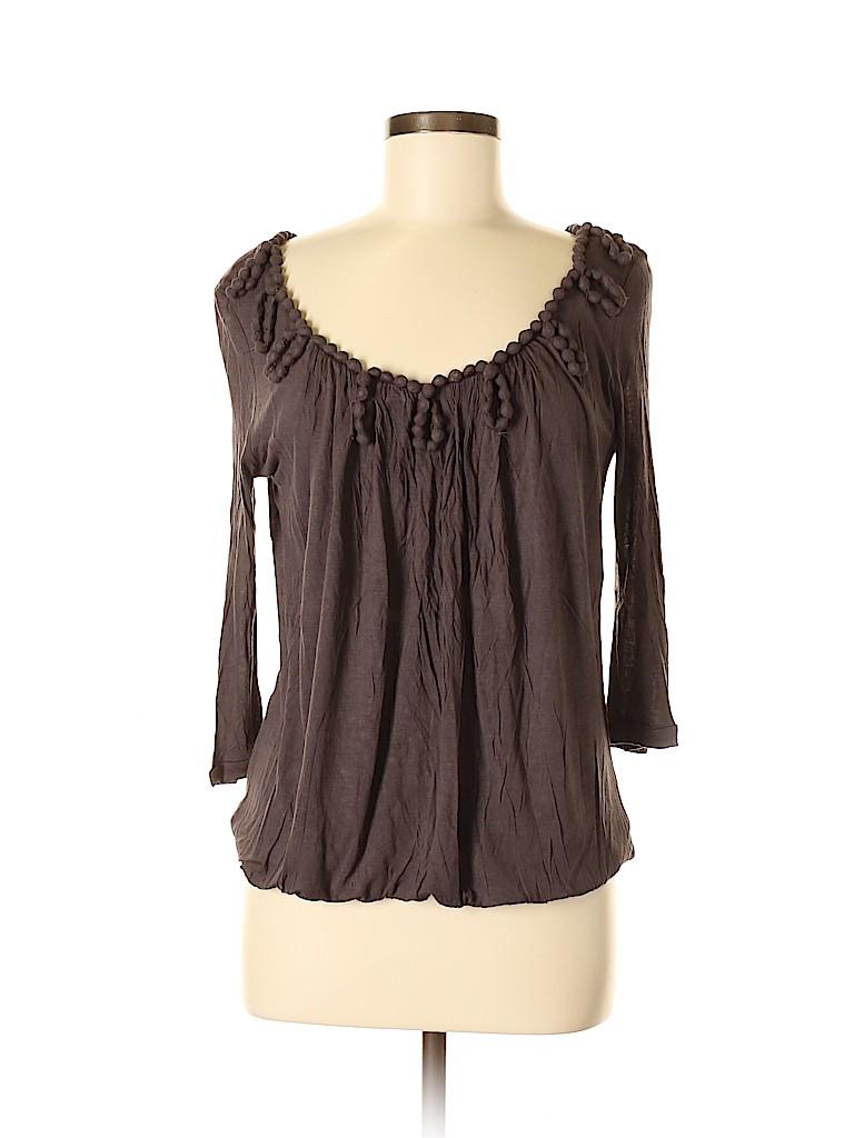 Bordeaux Women 3/4 Sleeve Top Size M