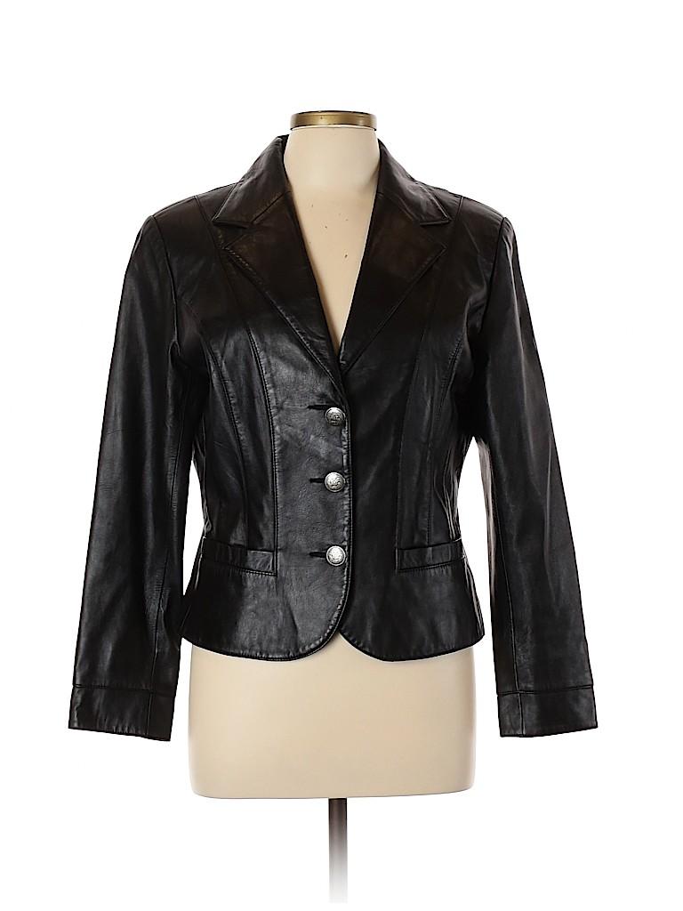 Scully Women Leather Jacket Size L