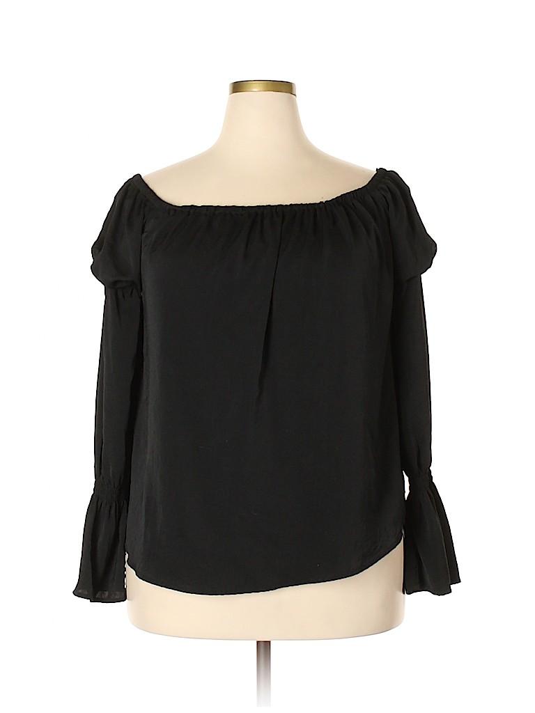 Belle + Sky Women Long Sleeve Blouse Size XL