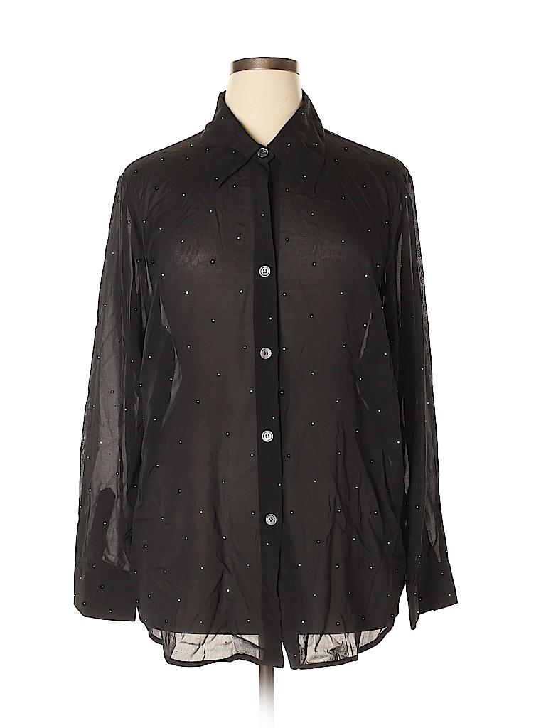Karen Kane Women Long Sleeve Silk Top Size 2X (Plus)