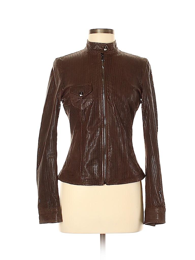 Dolce & Gabbana Women Leather Jacket Size 40 (IT)