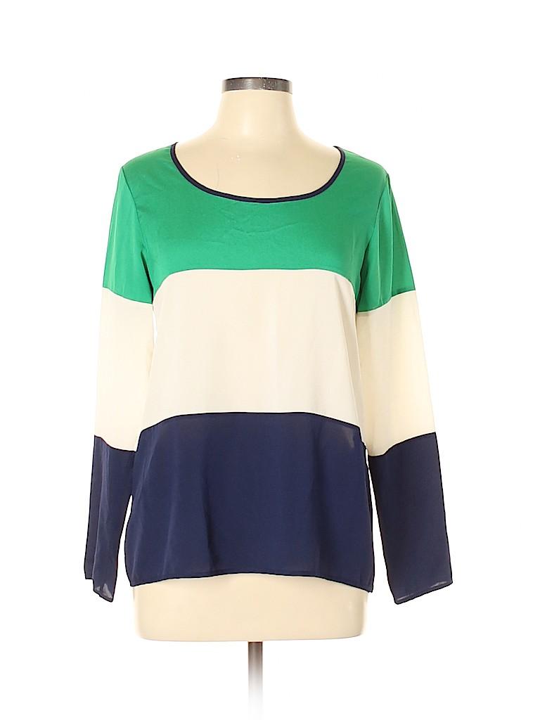 Collective Concepts Women Long Sleeve Blouse Size L