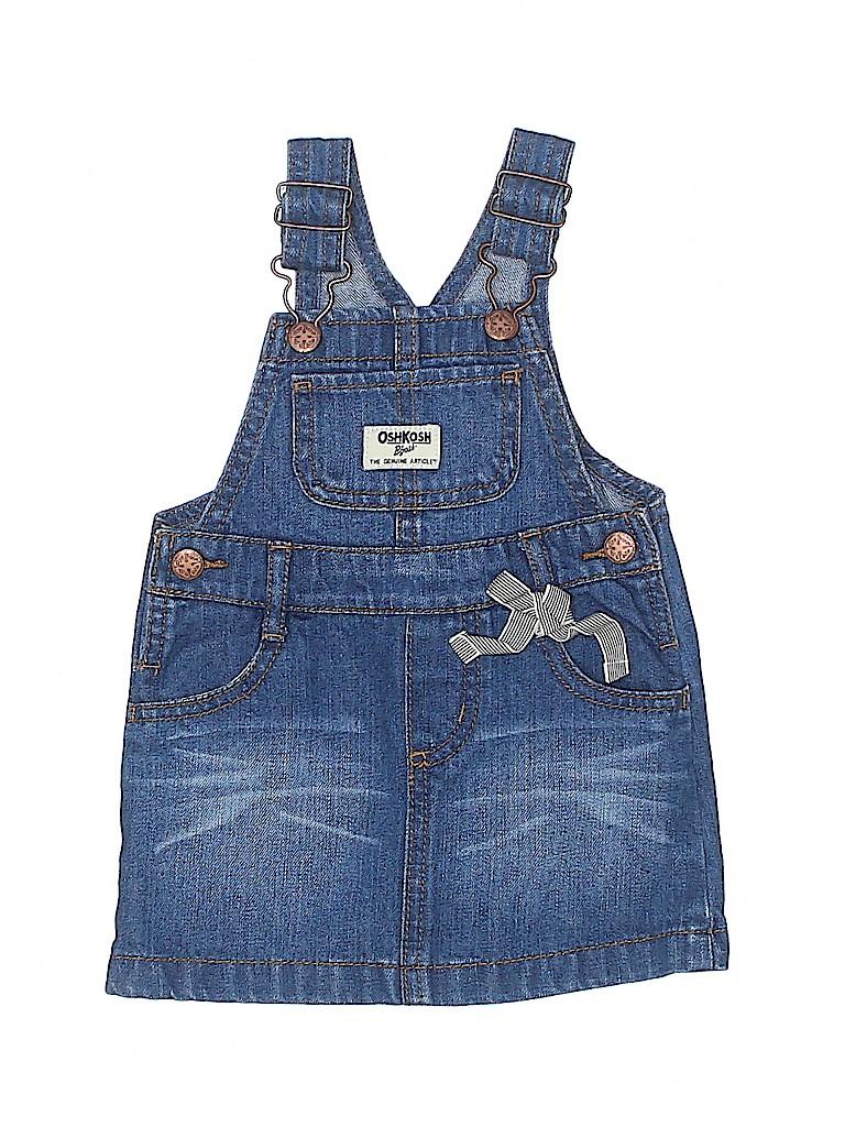 OshKosh B'gosh Girls Overall Dress Size 12 mo