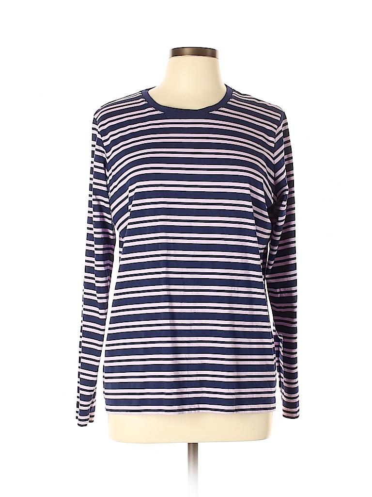 Lands' End Women Long Sleeve T-Shirt Size L
