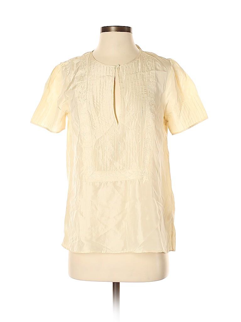Diab'less Women Short Sleeve Silk Top Size 3