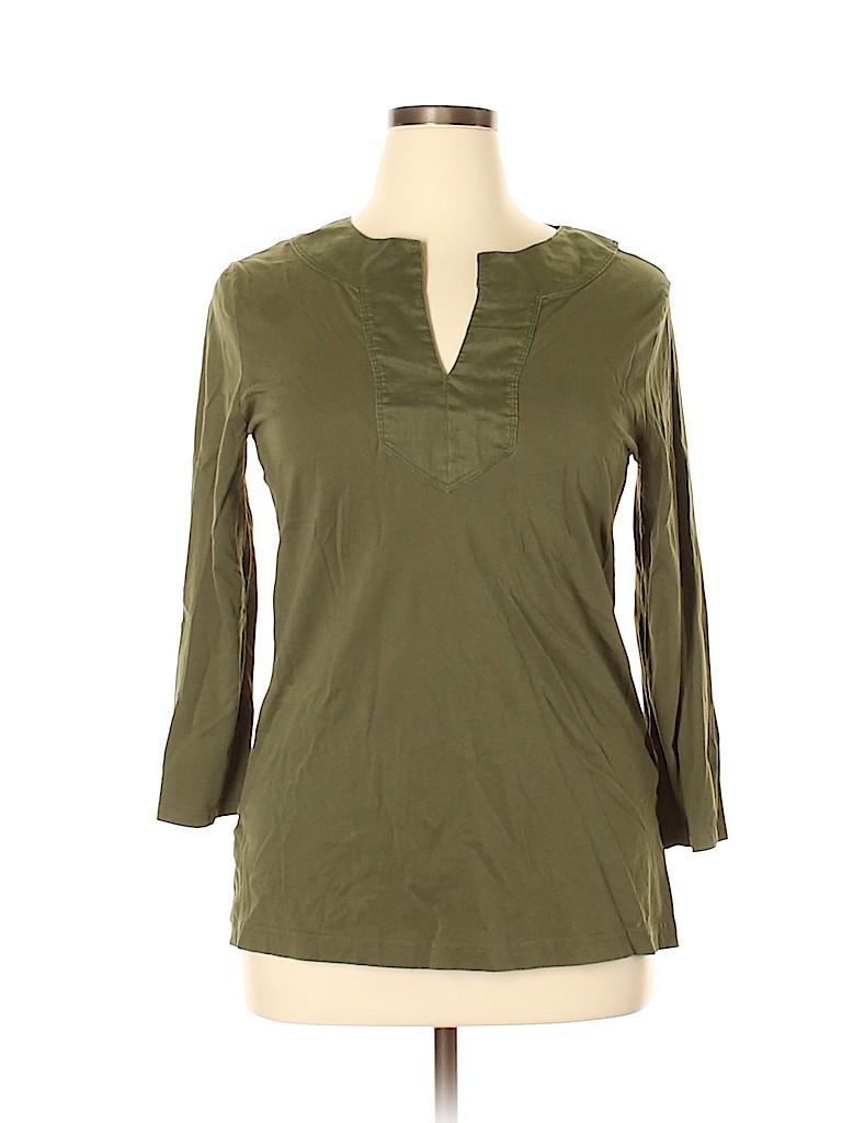 Lauren by Ralph Lauren Women 3/4 Sleeve Top Size XL