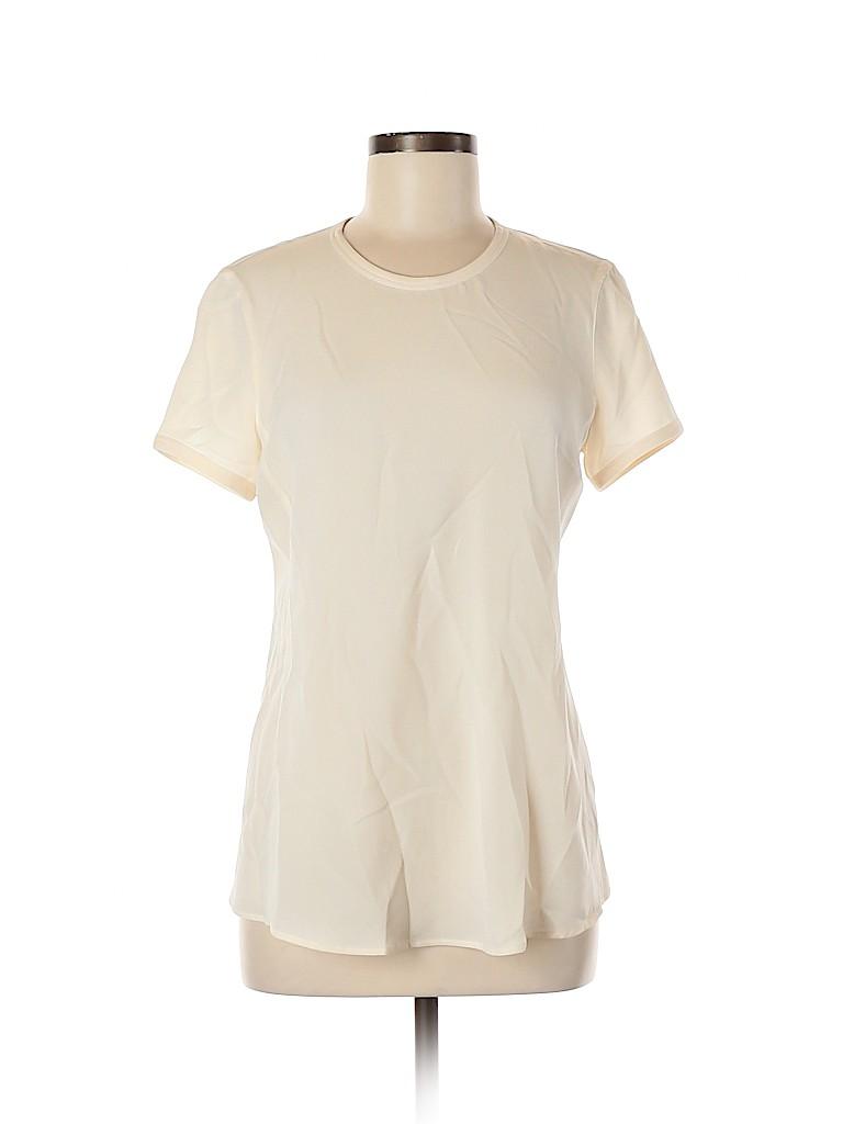 Giorgio Armani Women Short Sleeve Silk Top Size 44 (IT)
