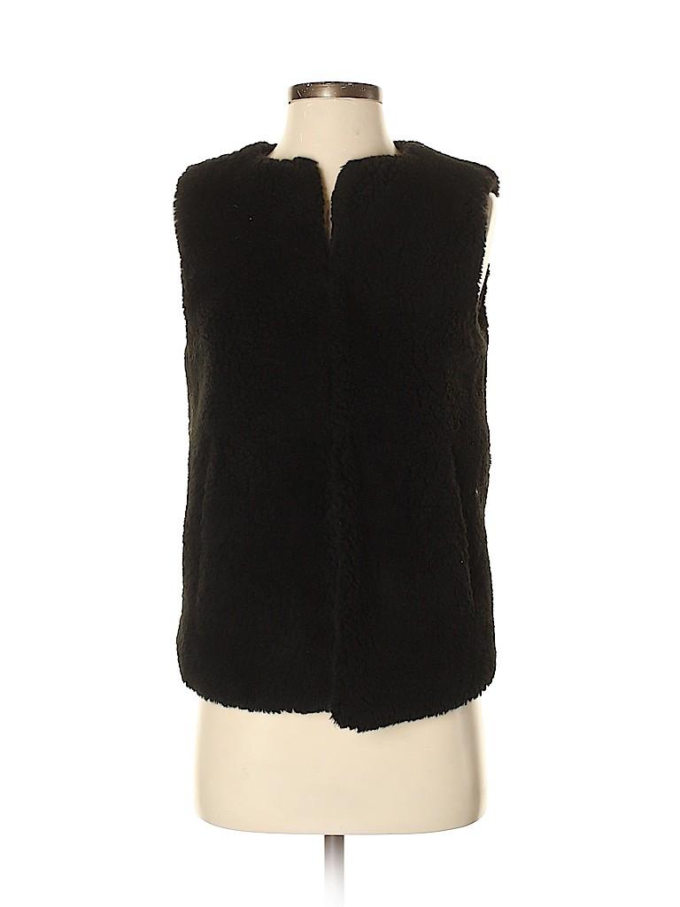 Madewell Women Faux Fur Vest Size XS