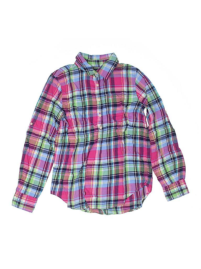 Ralph Lauren Girls Long Sleeve Button-Down Shirt Size 12