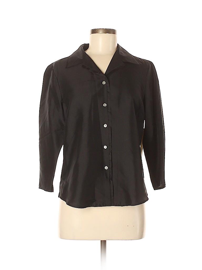 Amanda Smith Women Long Sleeve Silk Top Size 8