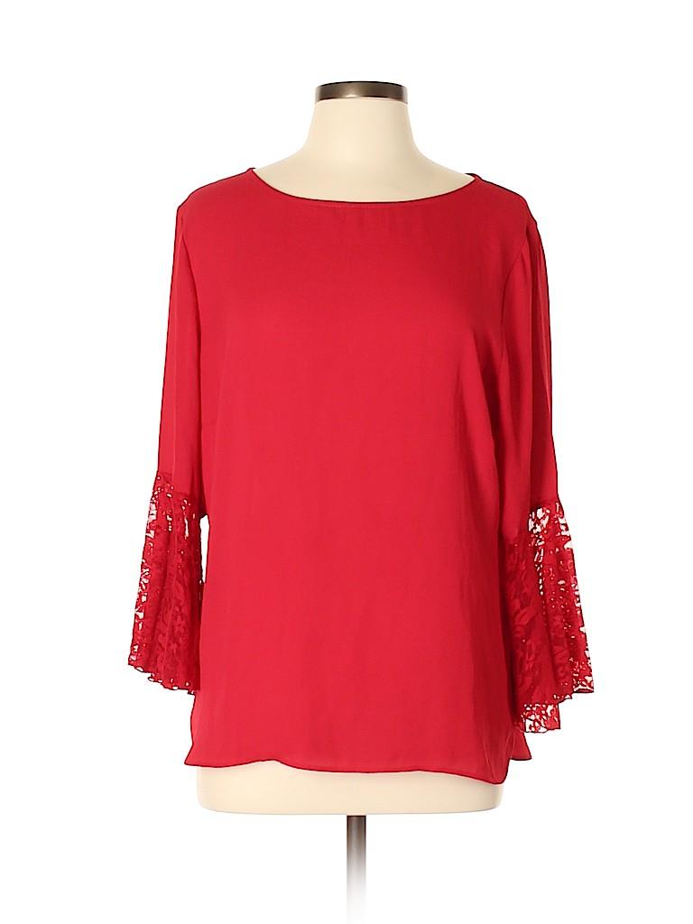 7th Avenue Design Studio New York & Company Women Long Sleeve Blouse Size L