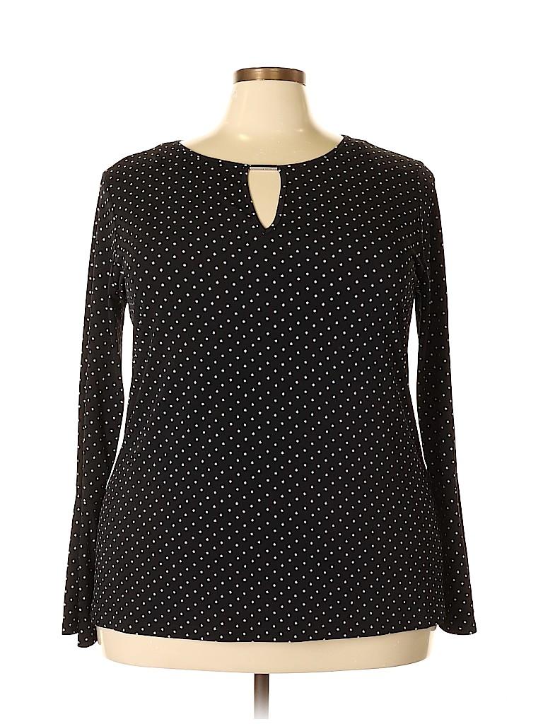 MICHAEL Michael Kors Women Long Sleeve Top Size 2X (Plus)