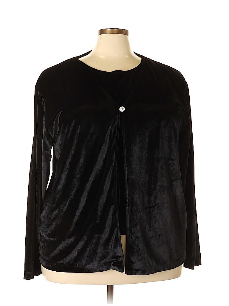 Robert Louis Women Long Sleeve Silk Top Size 3X (Plus)