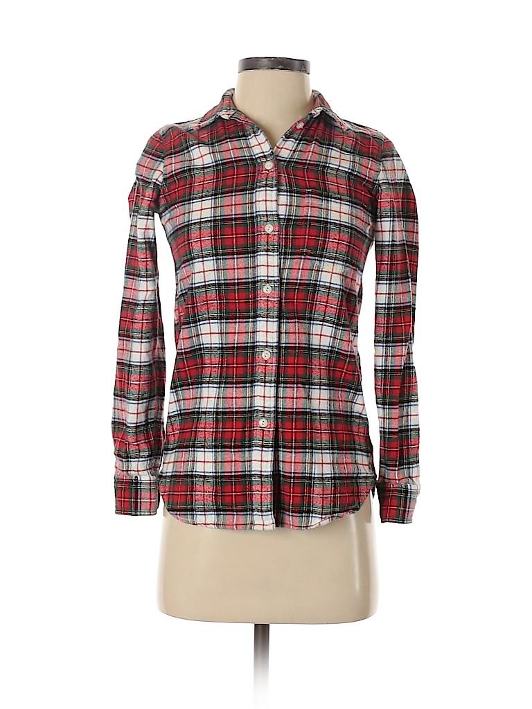 Madewell Women Long Sleeve Button-Down Shirt Size XXS