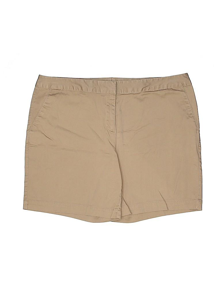 IZOD Women Khaki Shorts Size 14