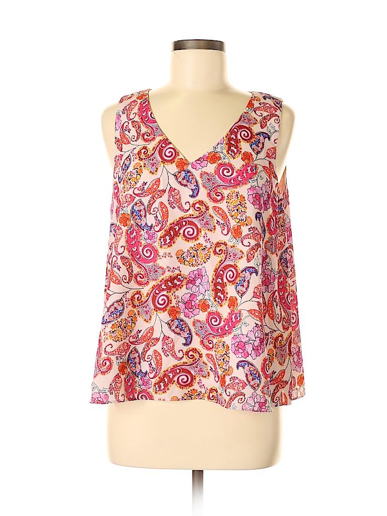 St. Tropez West Women Sleeveless Blouse Size M