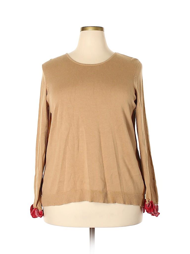 Hannah Women Pullover Sweater Size 1X (Plus)