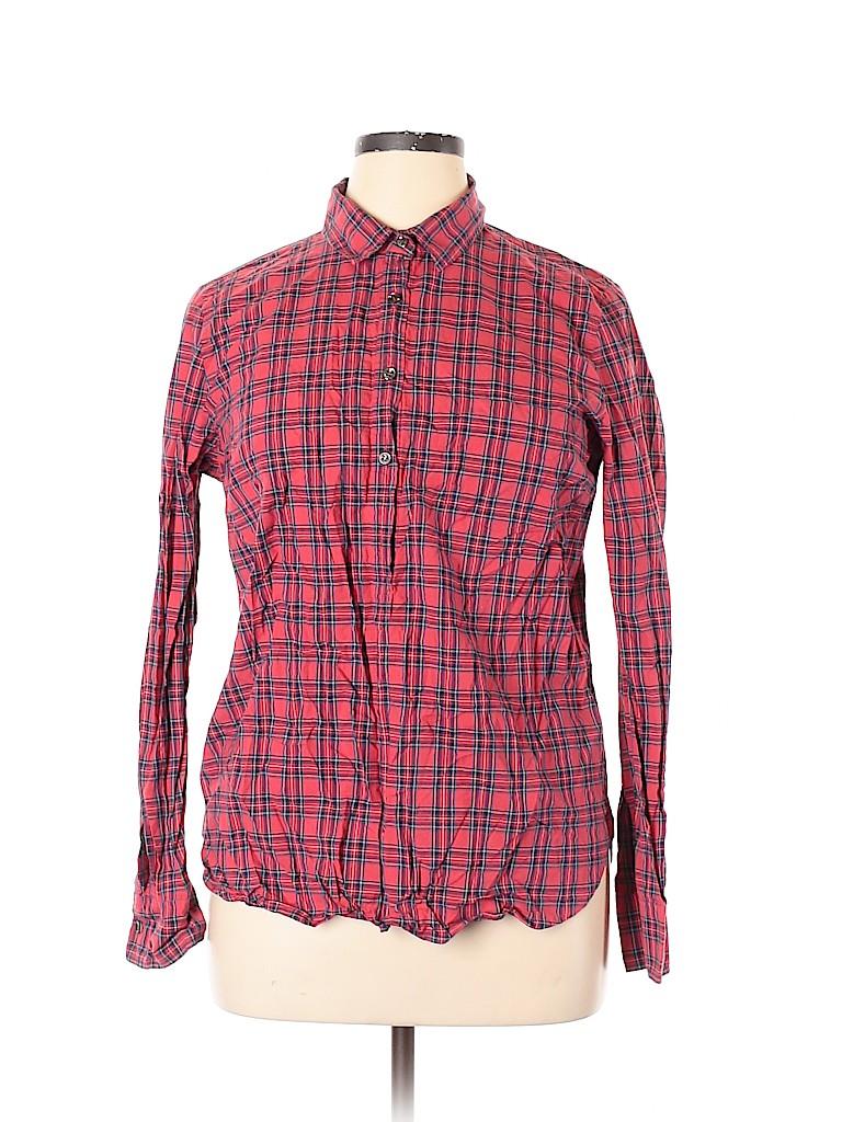 J. Crew Women Long Sleeve Button-Down Shirt Size 18 (Plus)
