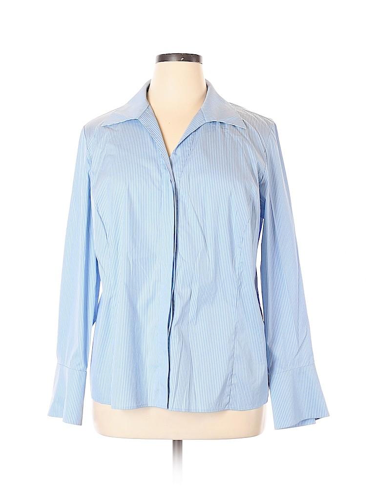 Lafayette 148 New York Women Long Sleeve Button-Down Shirt Size 16
