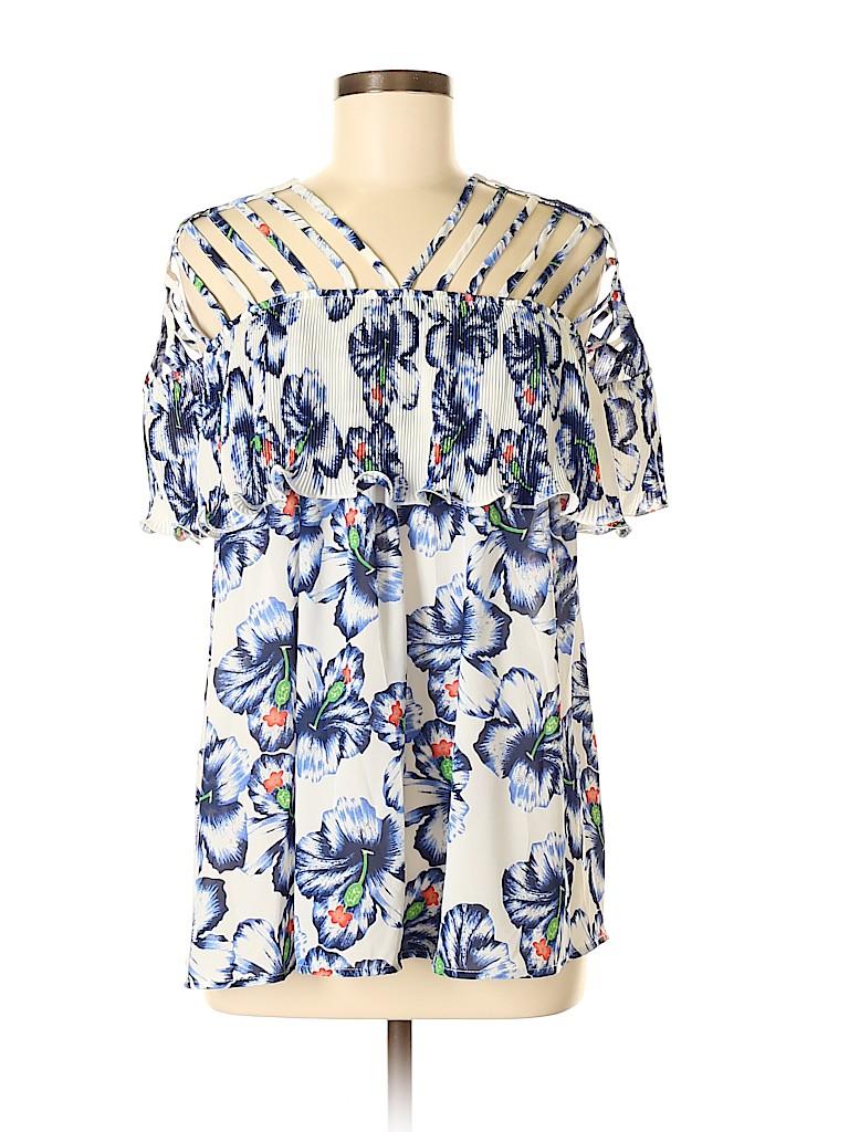 Entro Women Short Sleeve Blouse Size M