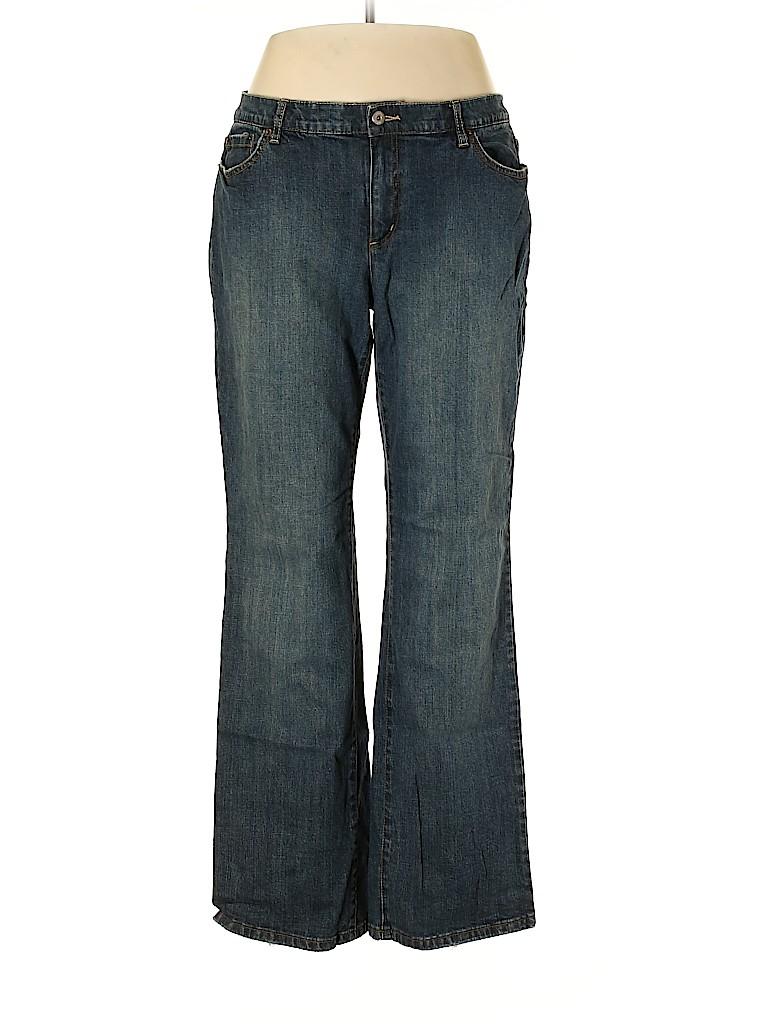 Liz & Co Women Jeans Size 18 (Plus)