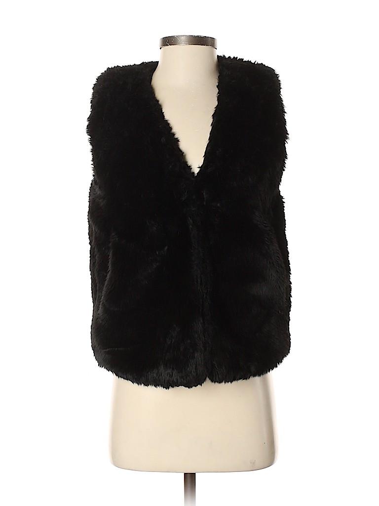 Madewell Women Faux Fur Vest Size S
