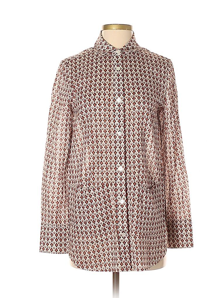 Tory Burch Women Long Sleeve Button-Down Shirt Size 4