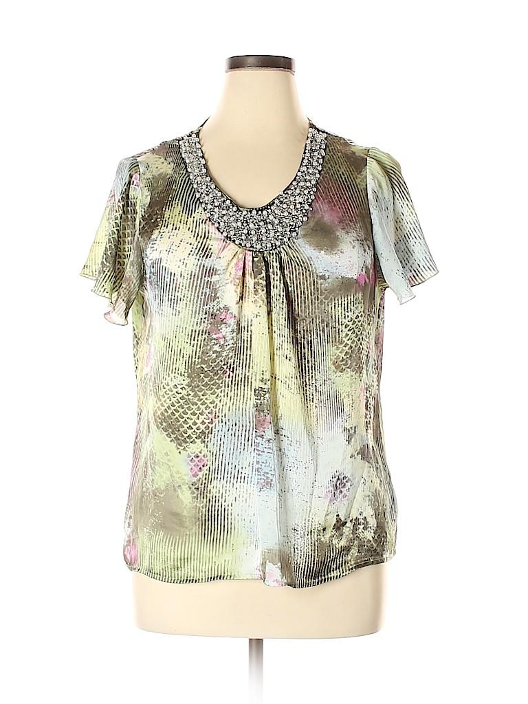 Elementz Women Short Sleeve Blouse Size XL