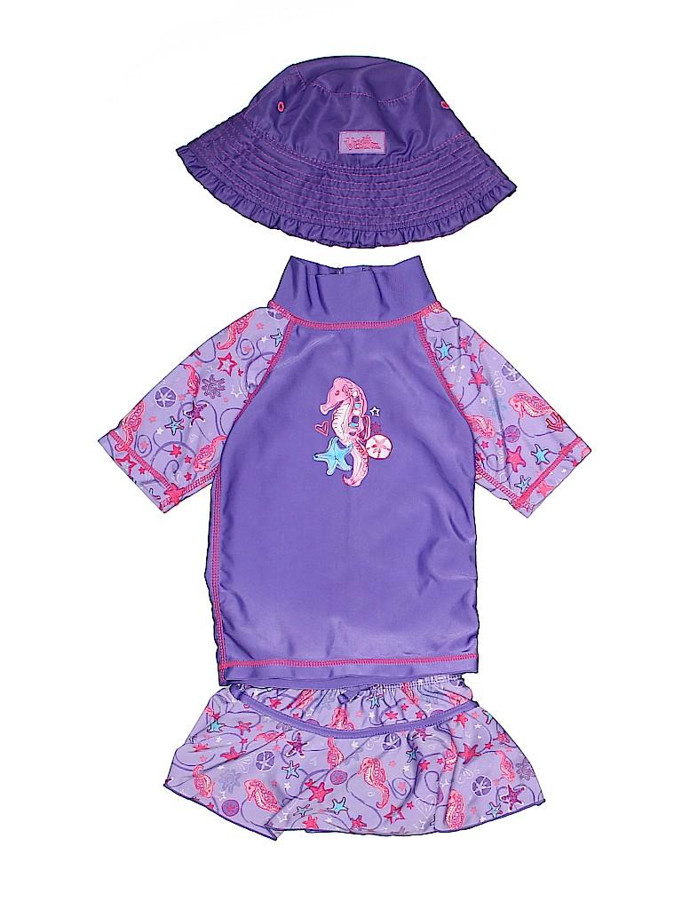 UV Skinz Girls Two Piece Swimsuit Size 12-18 mo