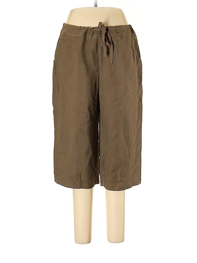 Coldwater Creek Women Linen Pants Size 16 (Petite)