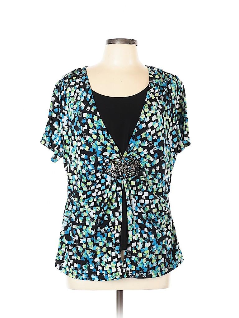 Elementz Women Short Sleeve Top Size XL