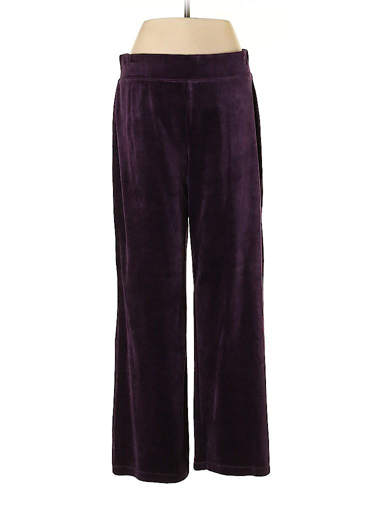 Talbots Women Velour Pants Size M (Petite)