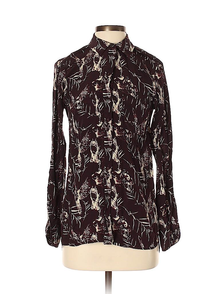 Rachel Roy Women Long Sleeve Silk Top Size XS